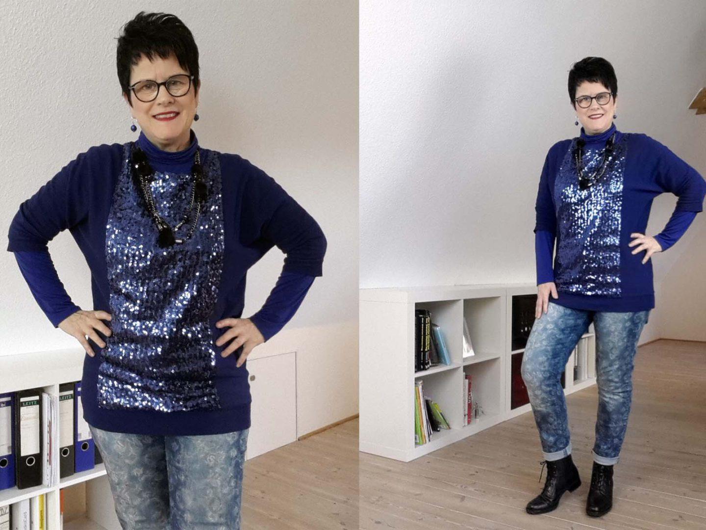 Harmonie in Blau – Outfit mit neuen Boots
