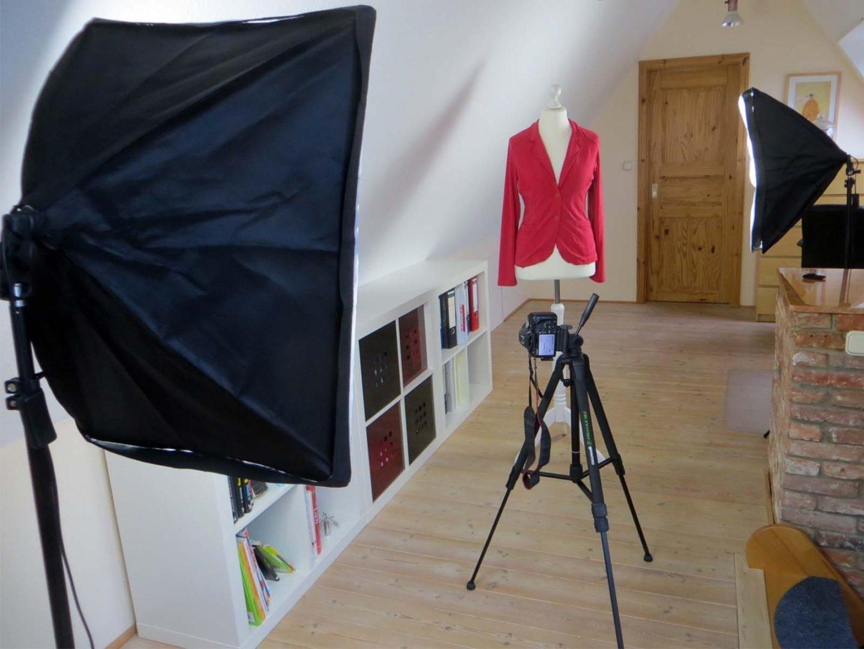 Wie man sich mit einfachen Mitteln ein eigenes Fotostudio einrichtet