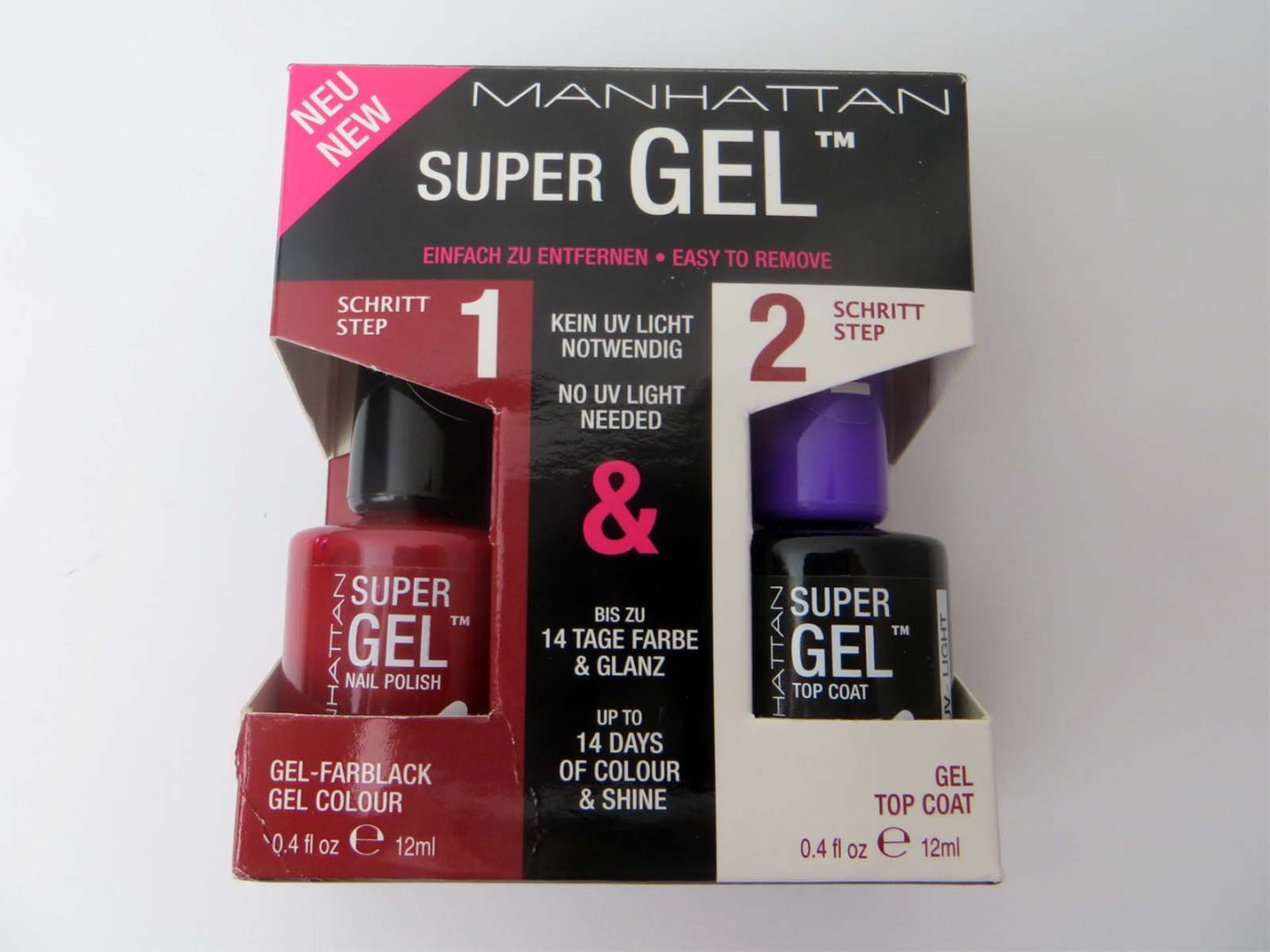 Manhattan Super Gel Nail Polish und Top Coat