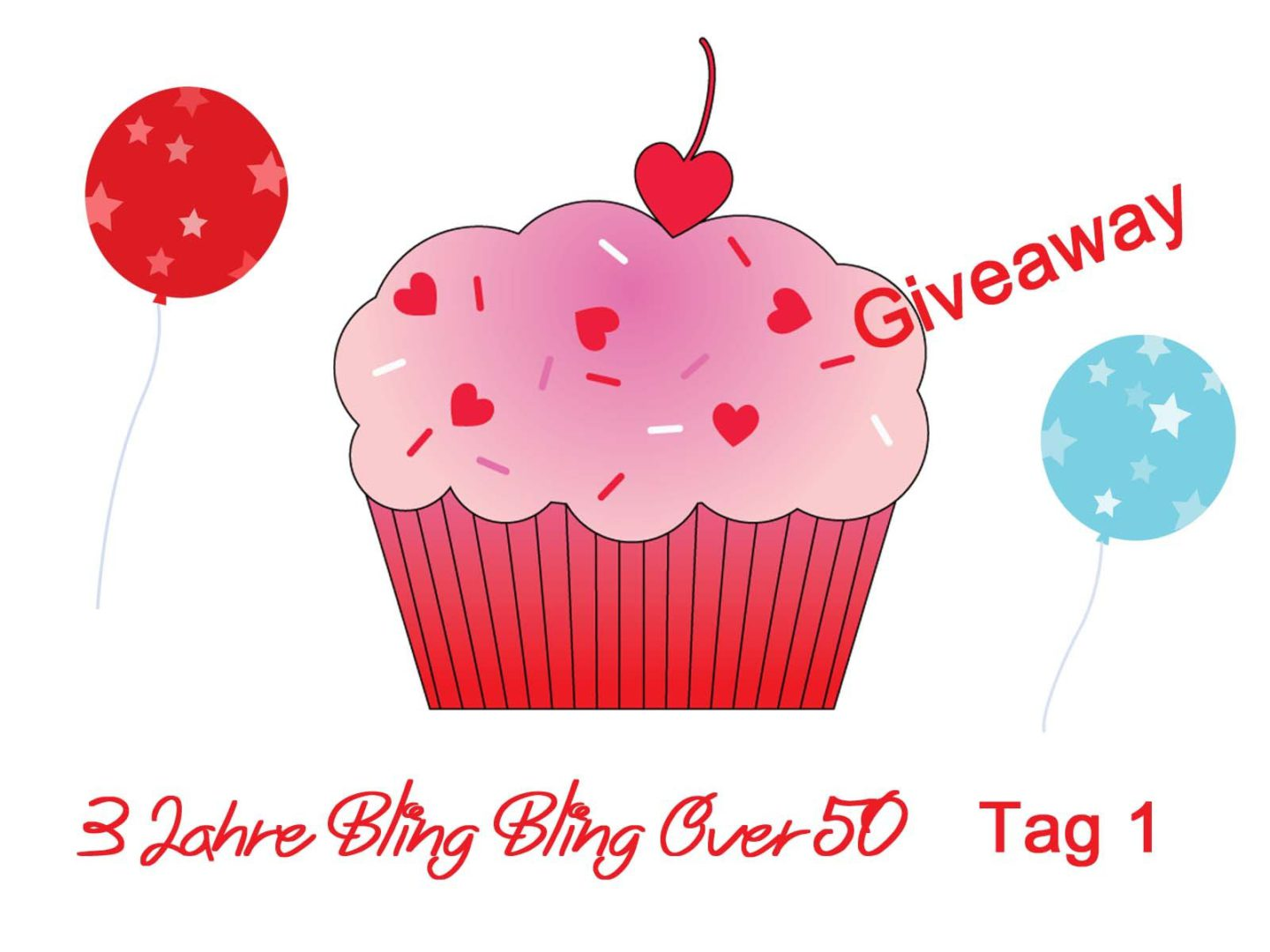 3 Jahre Bling Bling Over 50 – Giveaway Tag 1
