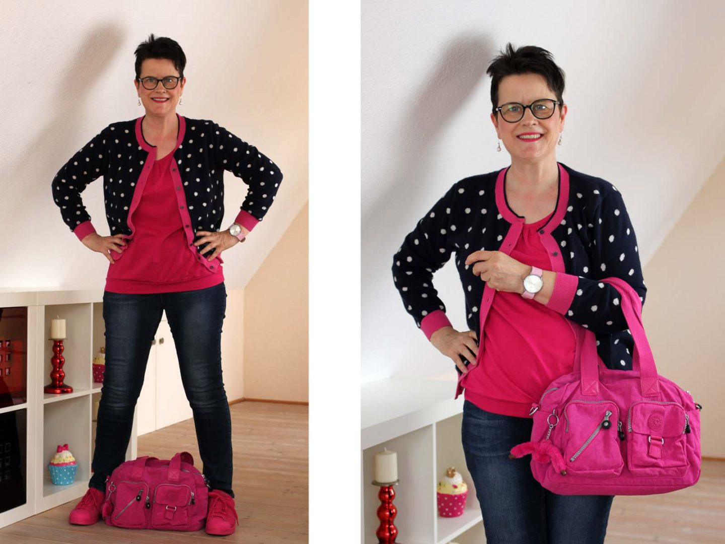 Think Pink – Outfit mit pinken Accessoires