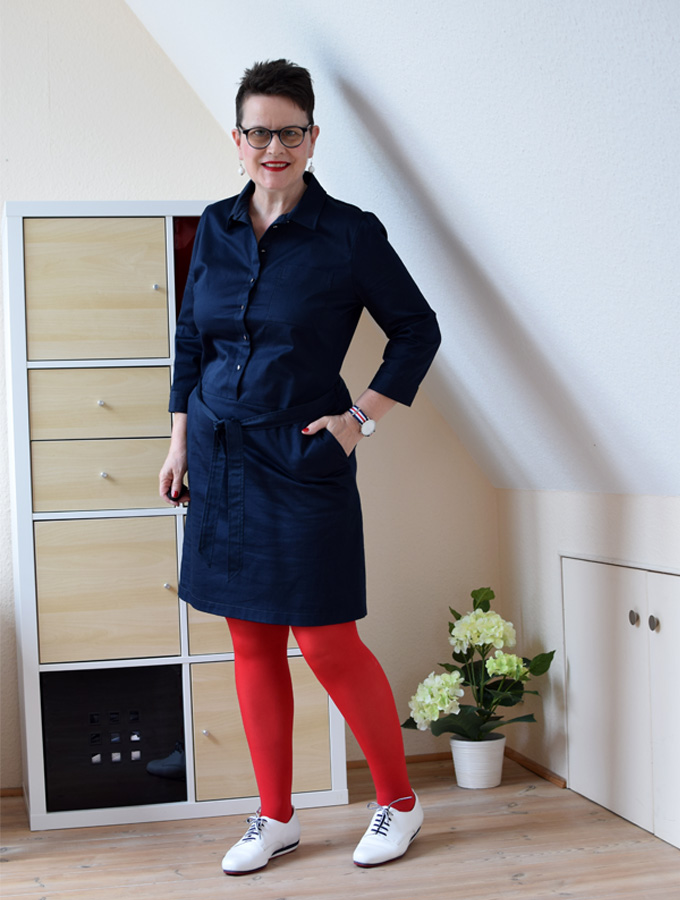 hemdblusenkleid sabine gimm. Black Bedroom Furniture Sets. Home Design Ideas