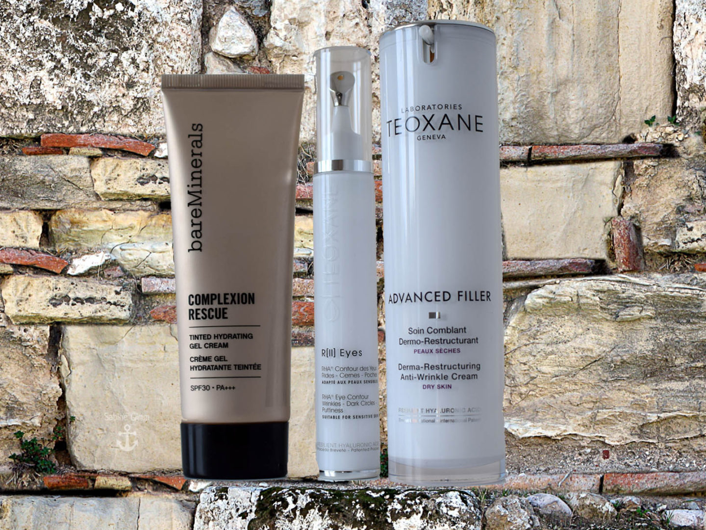 TEOXANE Gesichtspflege kombiniert mit bareMinerals® Complexion Rescue getönte Gelcreme
