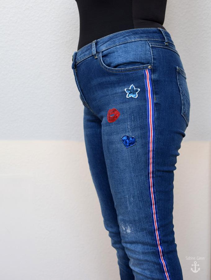 pimp your jeans galonstreifen selbst ann hen sabine gimm. Black Bedroom Furniture Sets. Home Design Ideas
